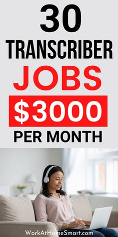 Looking for the best work from home transcription jobs that pay well? Here's a list of companies with transcription jobs for beginners and pros. Work From Home Careers, Work From Home Companies, Legit Work From Home, Legitimate Work From Home, Transcription Jobs From Home, Transcription Jobs For Beginners, Extra Money, Work From Home Business