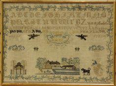 Early English Sampler Circa 19th Century Sight