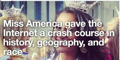 Ms America gave the internet a crash course in history, geography, and race