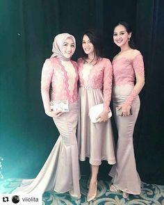#Repost @viiolita Kebaya Lace, Kebaya Dress, Kebaya Hijab, Batik Kebaya, Batik Dress, Lace Dress, Kebaya Modern Dress, Cute Bridesmaid Dresses, Bridesmaids