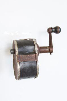 vintage pencil sharpener - wall mounted