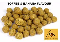 RBA Toffee Banana Flavour 14mm HNV Boilies Carp Fishing Bait 100g 200g 500g Bags #RBA