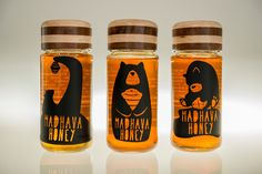 Madhava Honey Rebrand (Student Project) on Packaging of the World - Creative Package Design Gallery Honey Packaging, Bottle Packaging, Food Packaging, Honey Label, Label Design, Branding Design, Package Design, Graphic Design, Honey Logo