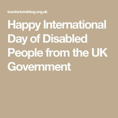 Happy International Day of Disabled People from the UK Government
