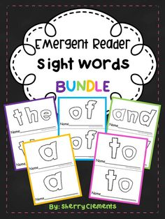 Emergent Reader Sight Words BUNDLE - Emergent Readers for the five sight words: the, of, and, a, and to. Great for guided reading in kindergarten and first grade. Also great for take home books - Provides for differentiation! $