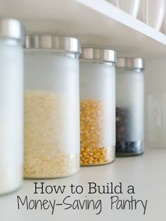 If you are trying to save money, one way to do that is with a pantry. You can save lots of money by having the right pantry staples. save money on food frugal meal ideas, meal planning tips and budget recipes! Save Money On Groceries, Ways To Save Money, Money Tips, Money Saving Tips, Money Budget, Living On A Budget, Frugal Living Tips, Frugal Tips, Simple Living