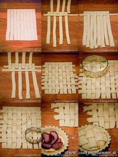 meraviglioso, paziente lavoro di intreccio!!  Brava cooking planner :-)))
