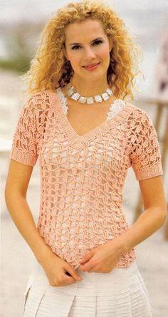 Openwork crochet Top with diagram at site - Renee - Lei Yu Xuan