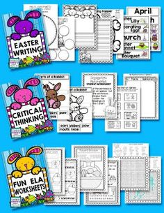 HUGE EASTER UNIT   The focus of this package is on differentiated learning. There are activities for all levels of learning from K to 2. In this package you will find Language Arts and Math activities for teaching...  vocabulary  spelling  following directions  opposites  parts of speech  critical thinking  irregular plural nouns  number identification  addition to 20  addition to 99