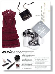 """""""Mini Dress"""" by collinsangelface110 ❤ liked on Polyvore featuring self-portrait and Stuart Weitzman"""