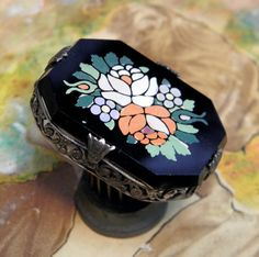 Antique Inlay Victorian Pin Brooch Jewelry