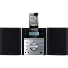 Pioneer X-EM21 Micro HiFi CD/FM Stereo System with iPod-Dock USB-in Remote
