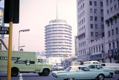 losangelespast:  The Capital Records building, 1965.
