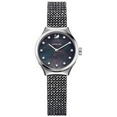 This luxurious-looking timepiece is perfect watch with a touch of modernity and is perfect for special occasions. It has a black mother-of-pearl dial with 11 hand-applied crystal markers with a stainless steel case having a price of £223.20 GBP. Don't see it, buy it.