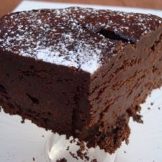 Flourless chocolate cake THM S Brownie Recipes, Cake Recipes, Dessert Recipes, Low Carb Desserts, Healthy Desserts, Dark Chocolate Cakes, French Chocolate, Chocolate Ganache, Flourless Chocolate Cakes
