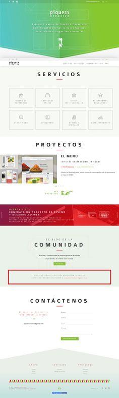Diseño y Programación Web de la página del estudio de diseño Piquera Creativa. Trabajo de Conjunto con Adriana Méndez. #piqueracreativa