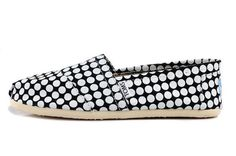Toms women shoes on sale White dot  $25.88-tomsoutletonsale.org