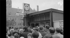 Montreal's Metro System Grand Opening In 1966 Is A Nostalgic Blast From The Past Metro Montreal, Montreal Ville, Of Montreal, Old Pictures, Old Photos, Vintage Videos, Canada, Still Standing, Grand Opening