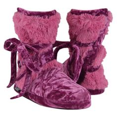 Tonal Fur Wrap Boot Rose, $23, now featured on Fab.