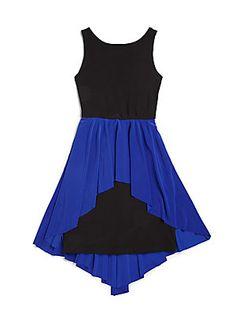 Un Deux Trois Girl's Colorblock Dress, $88