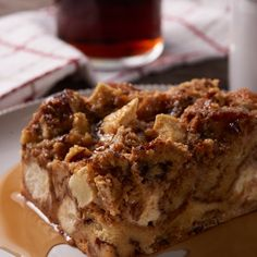 Apple Cinnamon Roll Bread Pudding     #sweets #dessert