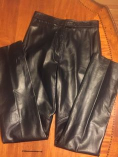 Wilsons Leather Maxima High Rise Black 100 Leather Pants Sz Women's 8 | eBay