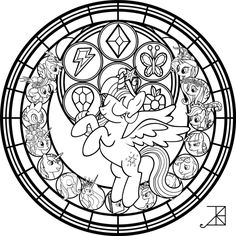 commish princess twilight stainedglass line art by akili amethyst on deviantart disney coloring pagescolouring