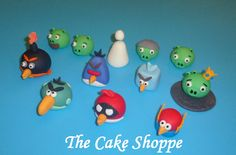 Angry Birds Space fondant cupcake toppers