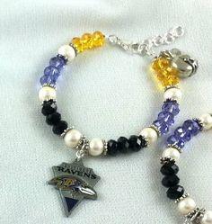 Check out this item in my Etsy shop https://www.etsy.com/listing/218153469/nfl-swarovski-ravens-charm-bracelet