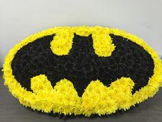 The Bespoke flower shop Flowers  bat man funeral Art by bejay drewin Florist Sheffield 01909808129