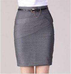 2016 Autumn Winter Women Skirts Office Formal Pencil Skirts Casual Sexy Slim High Waist Knee-Length Midi Skirt Saia Plus Size Satin Pencil Skirt, Pencil Skirt Casual, Pencil Skirt Outfits, Denim Pencil Skirt, Pencil Skirts, Pencil Dresses, Denim Skirt, Fall Skirts, Short Skirts