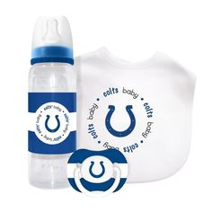 Baby Fanatic Gift Set (Bib, Pacifier And Bottle) - Indianapolis Colts