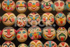 Face masks made of straw, Hanoi/Vietnam – royalty-free 스톡 사진