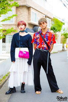 Harajuku Duo w/ Floral Print in Style Nanda, Birthdeath Tokyo, ESC Studio, UNIF & Marc Jacobs