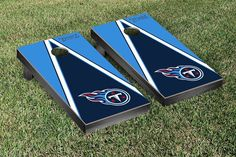 Tennessee Titans NFL Football Cornhole Game Set Triangle Version
