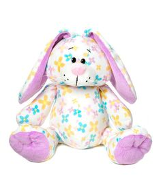 Another great find on #zulily! White & Purple Floral Bunny Plush Toy by GANZ #zulilyfinds
