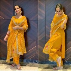 Just One Week To Go For Holi Here Are The Outfit Idea For You Lovelies :- AwesomeLifestyleFashion Pakistani Dress Design, Pakistani Dresses, Indian Dresses, Indian Outfits, Kurta Designs, Patiala Suit Designs, Bridal Suits Punjabi, Punjabi Suits Party Wear, New Punjabi Suit