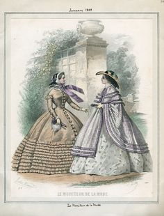 Le Moniteur de la Mode, January 1859. LAPL Visual Collections.