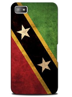Saint Kitts and Nevis Vintage Country Flag Case Cover Design for Blackberry