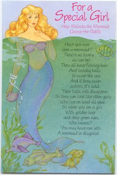 For a Special Girl Mermaid PD card