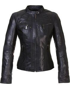 Кожаная куртка кожа овца, цвет черный, арт. 18700056 - цена 13390 руб. - магазин TOTOGROUP