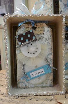 Gift made for a former co-worker of mine. Snowman firgure inspired by Kris Hurst.