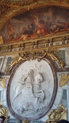 Detalhes do Chateau Versailles - França.