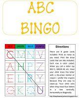 ABC Bingo printable - what a great idea