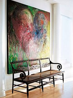 Would love a gorgeous piece of big art like this. DIY, perhaps?