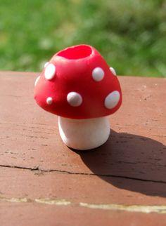 Mushroom Toadstool dreadlock bead.. $7.00, via Etsy. :: Shop DreadStop.Com for Leather Dreadlock Cuffs, Ties & Dread Beads #dreadstop