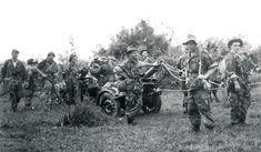 1ère compagnie étrangère parachutiste de mortiers lourds en Indochine avec 2 mortiers Brandt 120 mm type A.M. 50.