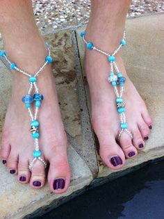 DIY Barefoot Sandals, I knew this tutorial had to exist somewhere!  connoisseurofcreativity.blogspot.com  Love this!! I had been struggling with this for days with another tutorial and this one was so easy!!!
