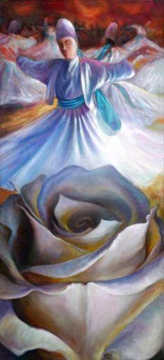 Sufis Dance Painting  - Sufis Dance Fine Art Print