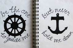 I refuse to sink- Anchor  Matching tattoos with CATHY?